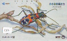 Télécarte  JAPON * TELEFONKARTE JAPAN (122) INSECTE * Scarabée * BEETLE INSECT Phonecard * KEVER * - Insekten