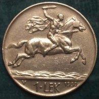 M_p> Albania 1 Lek 1930 Zecca V ( Vienna )  E Firma Romagnoli Motti - Albania