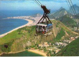 Brésil..Rio De Janeiro..animée..téléphérique..Copacabana..Vermelha Beach..Alto Do Pâo De Açücar - Rio De Janeiro