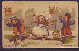 FRANCE CHROMOS IMAGES .....BLECAO GOUTER BLEDINE AMSTERDAM - Chromos