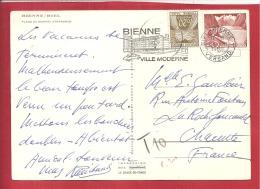 N°Y&T X 92 BIENNE (SUISSE)  Vers LA ROCHEFOUCAULD   Le   1960(2 SCANS) - Taxes