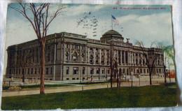 C.P.-C.P.A. KPA. USA --  WISCONSIS MILWAUKEE PUBLIC LIBRARI  USA-FRANCE 1915 - Milwaukee