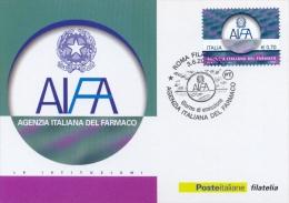 Italia 2013 FDC Maximum Card Agenzia Italiana Del Farmaco - Apotheek
