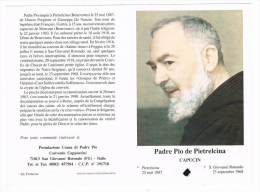 R 015 - Relique - Relic - Relikwie - Padre Pio De Pietrelcina Capucin - Religión & Esoterismo