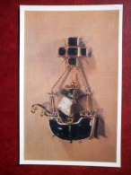 Pendant - Caravel , Spain , 16th Century - Sailing Ship - Western European Jewelry - 1971 - Russia USSR - Unused - Arts