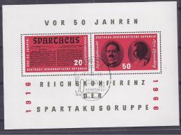 GermanDemocraticRepublic1 966: Michel Bl.25 Used - [6] Democratic Republic