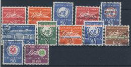 Lot Schweiz �mter UNO Michel No. 28 - 39 gestempelt used