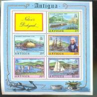ANTIGUA   373 A  MINT NEVER HINGED MINI SHEET OF SHIPS ; ENGLISH HARBOUR    ( - Bateaux