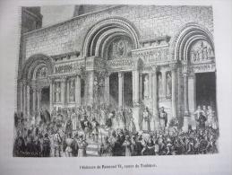 Pénitence De Raymond VI Comte De Toulouse , Gravure D'aprés Dessin De Thorigny , Circa 1850 - Documents Historiques