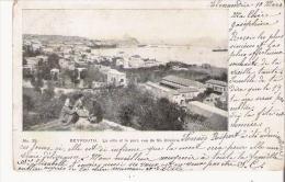 BEYROUTH 35 LA VILLE ET LE PORT VUE DE ST DIMITRIE 1906 - Liban