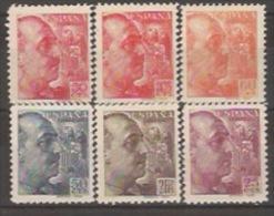 ESLT6-LT10-L4035.España Spain.Espagne GENERAL FRANCO.lote SANCHEZ-TODA 1939 (6 Valores**) Sin Charnela MAGNIFICA - 1931-Hoy: 2ª República - ... Juan Carlos I