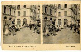 ALGERIE ALGER PLACE RANDON CARTE STEREO - Algerien