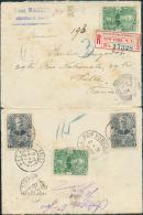 N°51(2)-55(2) Obl. Dc JEREMIE Sur Lettre Recommandée Du 16 Février 1904 Vers Lille (France) + Etiquette De Recommandatio - Haïti