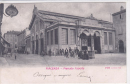 CARD PIACENZA MERCATO COPERTO MOVIMENTATA EDICOLA GIORNALI -FP-V-2-0882-18314 - Halles
