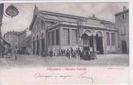 CARD PIACENZA MERCATO COPERTO MOVIMENTATA EDICOLA GIORNALI -FP-V-2-0882-18314 - Piazze Di Mercato