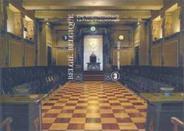 Freemasonry, Error, Imperf With No. On Back Side, Bicentenary Of A Masonic Lodge, Hourglass, Mathematics, MNH Belgium - Stamps