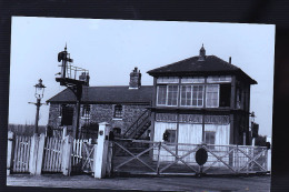 LOCOMOTIVE ANGLAISE CARTE PHOTO  ORIGINALE LEGENDES AU DOS - Eisenbahnen