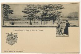 Fontainebleau Chalet Du Golf Panneau Decoratif Le Patinage Coll. Michel 34 - Fontainebleau