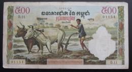 Billet Du Cambodge Imprimé Par La Banque De France - Cambodia
