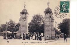 Dijon : Entrée Des Allées Du Parc (Editeur Cadé, Paris, KD N°21) - Dijon