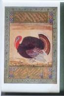 Litho Image Illustrateur Art Nouveau MUGHAL  Dinde  TURKEY COCK DINDON  USTAD MANSUR - Old Paper