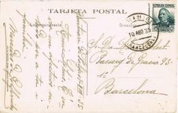 5634. Postal SANTUARIO De FALGAS (Barcelona) 1935. Fechador Pobla De Lillet - 1931-50 Cartas