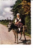 NORMANDIE Ane Et Son Bât, Groupe Folklorique Alfred Rossel De Cherbourg, Costume De Travail De Domestique, Jeune Fille - Costumi