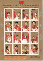 TABLE TENNIS-PING PONG-TISCHTENNIS, VIGNETTEN, PR CHINA, Atlanta 1996, MNH, Showing Kong Linghui, Liu Guoliang, ...... - Erinnofilia