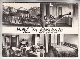 GEX 01 - Hotel Restaurant LA ROSERAIE - Jolie CPSM Dentelée Noir Et Blanc GF ( Années 60 ) - Ain - Gex