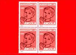 ANGOLA - Nuovo - 1959 - Assistenza - Madre E Bambino - Quartina - 1.00 - Angola