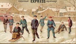 CHROMO  CHOCOLAT EXPRESS GRONDARD   Paris   Le Patinage  = = - Chocolat