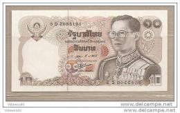 Thailandia - Banconota Non Circolata Da 10 Baht - Tailandia
