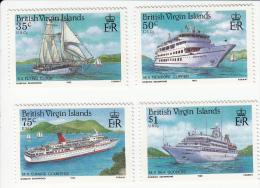 Britse Maagdeneilanden(Virgin Islands) Mi 537/540;Yv 539/542 Schepen ** Verlaagde Prijs - Iles Vièrges Britanniques