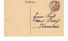 CPA-CARTE DE CORRESPONDANCE ALLEMANDE-1920- - Entiers Postaux