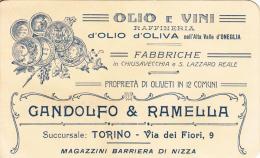 PUBBLICITA´ ADVERTISING REKLAM WERBUNG-OLIO E VINI RAFFINERIA D'OLIO D'OLIVA NELL'ALTA VALLE D'ONEGLIA CHIUSAVECCHIA E S - Werbepostkarten