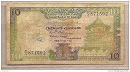 Sri Lanka - Banconota Circolata Da 10 Rupie - 1987 - Sri Lanka