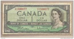 Canada - Banconota Circolata Da 1 Dollaro - 1954 - Canada