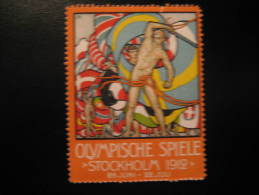 Stockholm 1912 Olympic Games Olympics Sweden Poster Stamp Label Vignette Viñeta