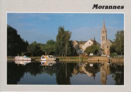 49 - MORANNES - L'église, Les Bords De La Sarthe, Le Port St Aubin. - Sonstige Gemeinden