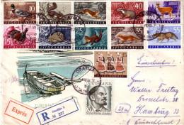 YOUGOSLAVIE - SUPERBE AFFRANCHISSEMENT AVEC 12 TIMBRES - LETTRE RECOMMANDEE POUR L´ALLEMAGNE. - 1945-1992 Repubblica Socialista Federale Di Jugoslavia