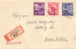 BOHEME - BEL AFFRANCHISSEMENT - LETTRE RECOMMANDEE DE 1943. - Covers & Documents