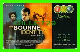 TÉLÉCARTES, THAILANDE - CINÉMA, FILM, THE BOURNE IDENTITY (MATT DAMON) 12/2004 - PHONECARDS - - Cinéma