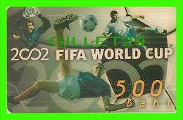 TÉLÉCARTES, THAILANDE - SPORTS, FOOTBALL (SOCCER) - 2002 FIFA WORLD CUP - 05/2004 - PHONECARDS - - Sport