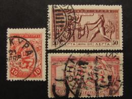 """GRECIA Regno -1906- """"Giochi Olimpici"""" 3 Val. US° (descrizione) - Usati"""