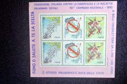 CAMPAGNA CONTRO IL FUMO 6 BOLLI CHIUDI LETTERA ANNO 1993 - Salute