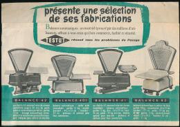 Ancien Dépliant Publicitaire : TESTUT, Le Seul Spécialiste De Toutes Les Pesées, Balance, Mantes, Corbeil... - Publicités