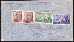 1950? Corresponancia Diplomatica Embajada De Los Estados Unidos - Franquicia Postal Pan-Americana Por Vienna - 1931-50 Cartas