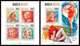 GUINEA BISSAU 2013 - Marilyn Monroe - YT 5036-9 + BF911; CV = 34 € - Cinema