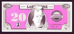 """Test Note """" De La Rue ILe Febure """" 20 Unit, UNC, Extremly Rare - Banconote"""