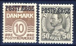 #C2506. Denmark 1936-38. POSTFÆRGE. Michel 20 + 22. MNH(**) - Paketmarken
